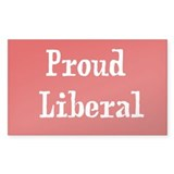 Proud Liberal Rectangle Decal