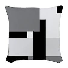 Mono Blocks Woven Throw Pillow