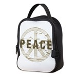 Distressed Peace Neoprene Lunch Bag