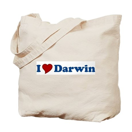I Love Darwin Tote Bag