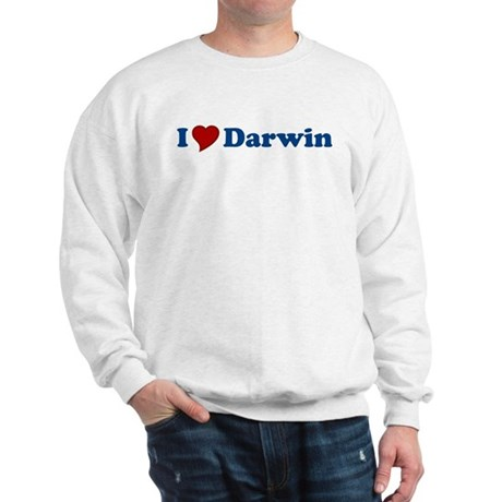 I Love Darwin Sweatshirt