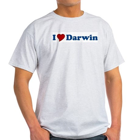 I Love Darwin Ash Grey T-Shirt