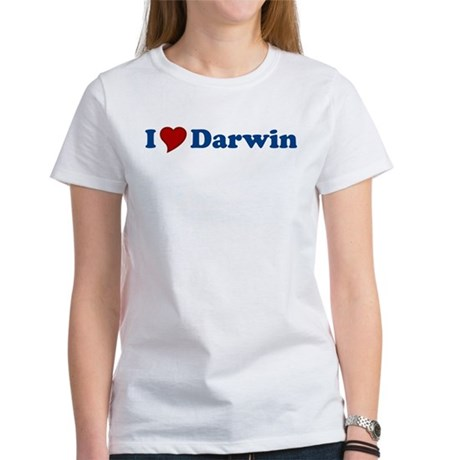 I Love Darwin Womens T-Shirt