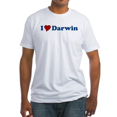 I Love Darwin Fitted T-Shirt