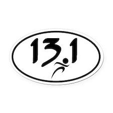 13.1 half-marathon Oval Car Magnet