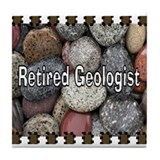 retired Geologist Blanket Tile Coaster
