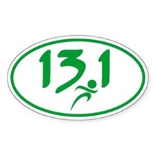 Green 13.1 half-marathon Decal