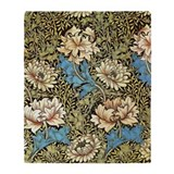 Chrysanthemums by William Morris Throw Blanket