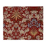 Hyacinth Design by William Morris Throw Blanket