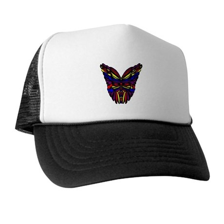 Stained Glass Butterfly Wings Trucker Hat