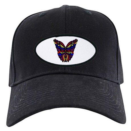 Stained Glass Butterfly Wings Black Cap