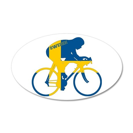 Sweden Cycling 35x21 Oval Wall Decal