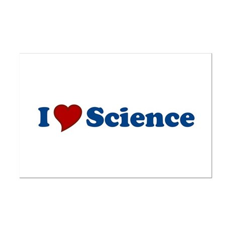 I Love Science Mini Poster Print