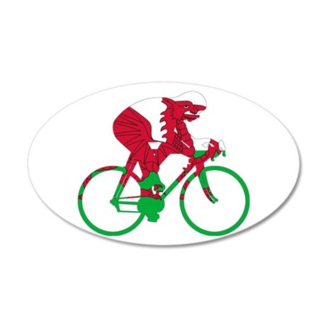 Wales Cycling 35x21 Oval Wall Decal