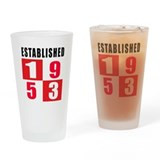 Established 1953 Drinking Glass