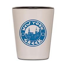 New York Greek American Shot Glass