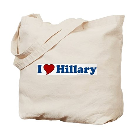 I Love Hillary Tote Bag