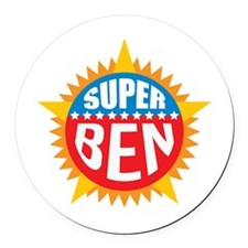 Super Ben Round Car Magnet