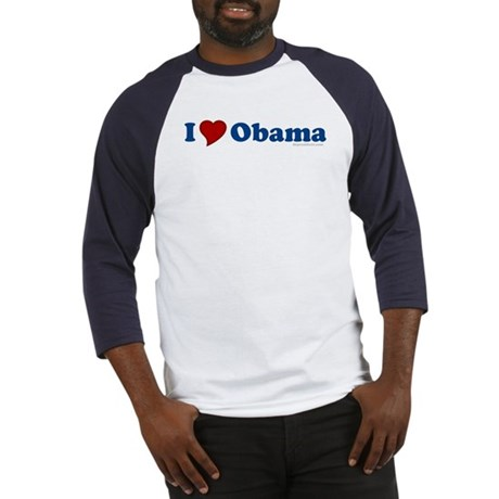 I Love Barack Obama Baseball Jersey