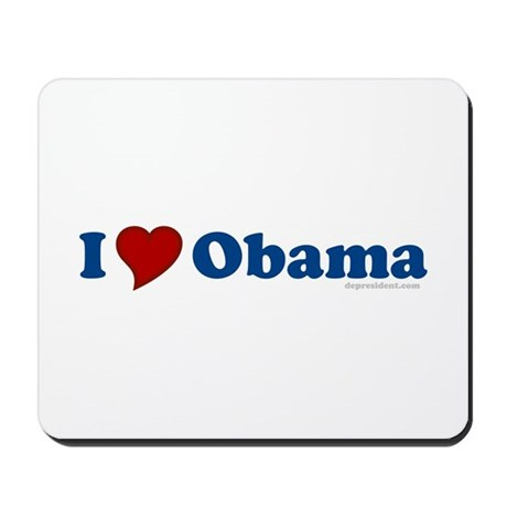 I Love Barack Obama Mousepad