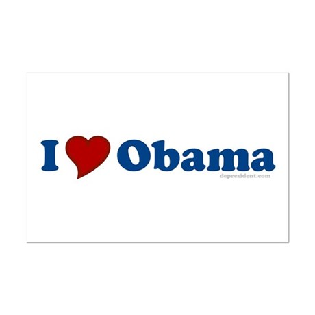 I Love Barack Obama Mini Poster Print