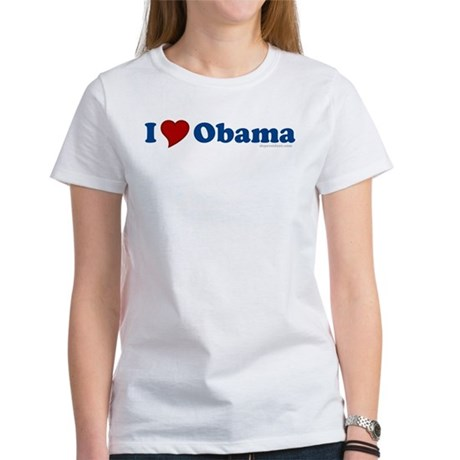 I Love Barack Obama Womens T-Shirt