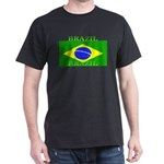 Brazil Brazilian Flag Black T-Shirt