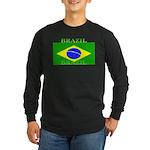 Brazil Brazilian Flag Long Sleeve Black T-Shirt