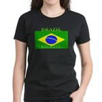 Brazil Brazilian Flag Women's Black T-Shirt
