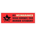 Weimaraner Honor Student Domination Sticker
