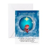 Goddaughter Christmas Greeting Card With Cute Elf