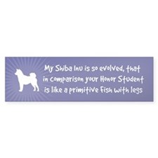 My Shiba Inu is So Evolved... Bumper Bumper Sticker