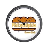 Philadelphia Cheesesteak Wall Clock
