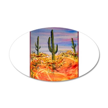 Saguaro cactus, desert art Wall Decal