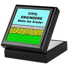 Civil Engineers Make the Grade Keepsake Box