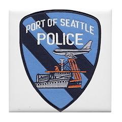 Seattle Port Police Tile Coaster