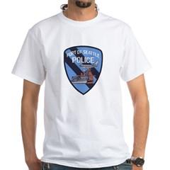 Seattle Port Police White T-Shirt