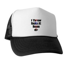 I Throw Rocks at Houses Trucker Hat