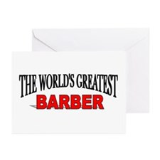 """""""The World's Greatest Barber"""" Greeting Cards (Pack"""