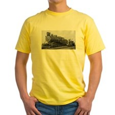Locomotive Black & White Trains T-Shirt