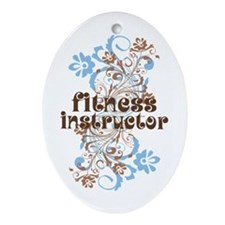 Fitness Instructor Ornament (Oval)