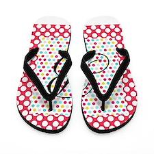 Personalizable Polka Dots Flip Flops