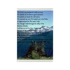 Psalm 23 Rectangle Magnet