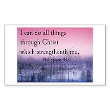 Philippians 4:13 Rectangle Decal