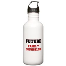 Future Family Counselor Water Bottle