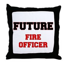Future Fire Officer Throw Pillow