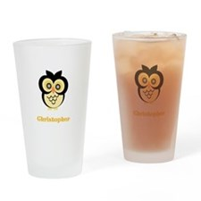 Owl Just Add Name Drinking Glass