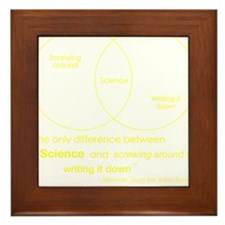 Mythbusters Science Quote (yellow) Framed Tile