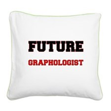 Future Graphologist Square Canvas Pillow