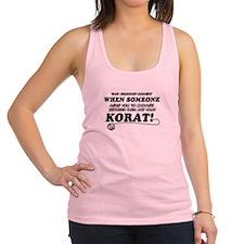 Korat breed designs Racerback Tank Top